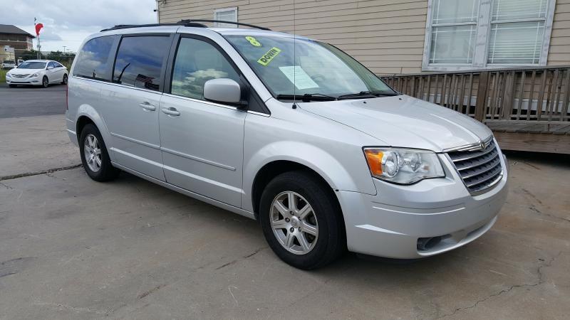 2008 CHRYSLER TOWN AND COUNTRY TOURING 4DR MINI VAN silver air conditioning power windows power