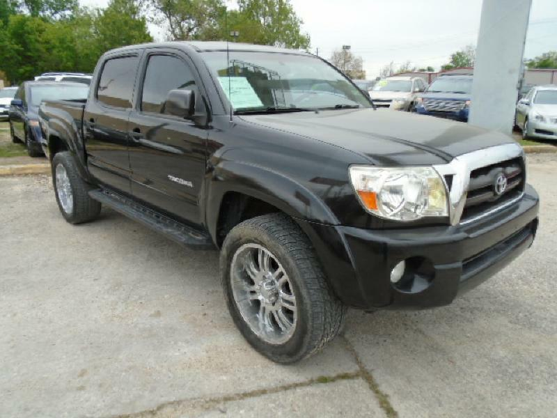 2007 TOYOTA TACOMA DOUBLE CAB PRERUNNER black air conditioning power windows power locks power