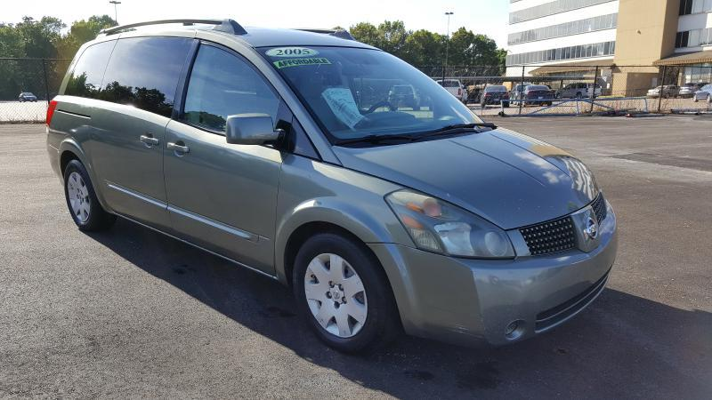 2005 NISSAN QUEST S green air conditioning power windows power locks power steering tilt whee