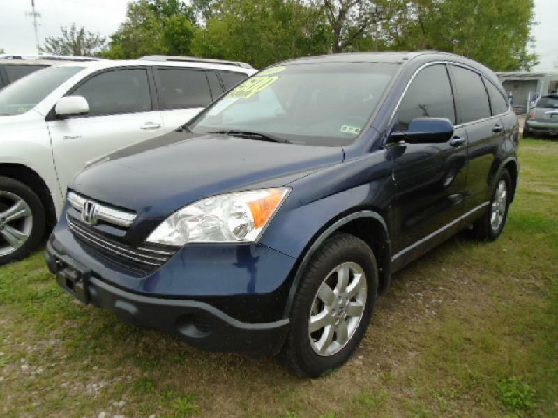 2009 HONDA CR-V EXL blue air conditioning power windows power locks power steering tilt wheel