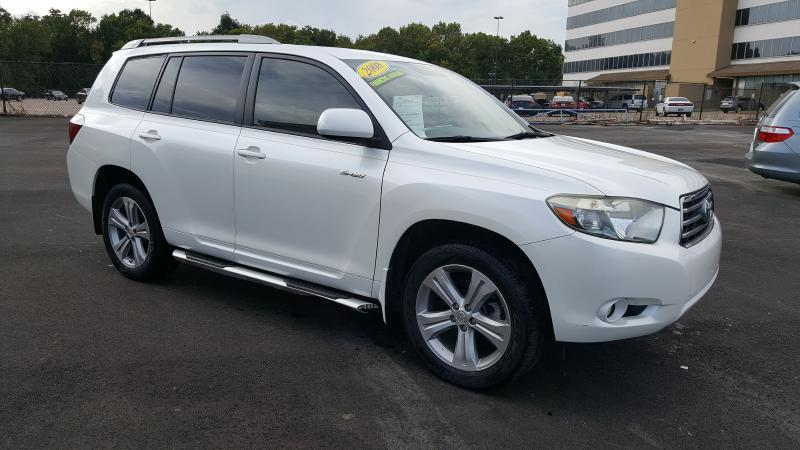 2008 TOYOTA HIGHLANDER SPORT 4DR SUV white air conditioning power windows power locks power st