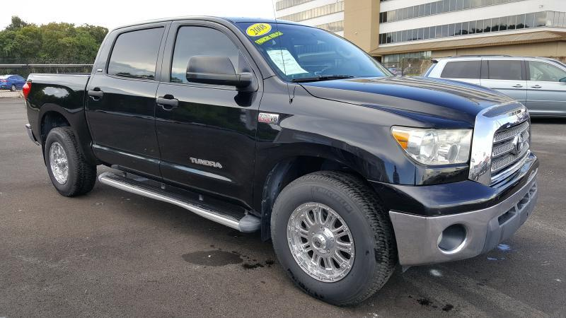 2008 TOYOTA TUNDRA CREWMAX black air conditioning power windows power locks power steering ti