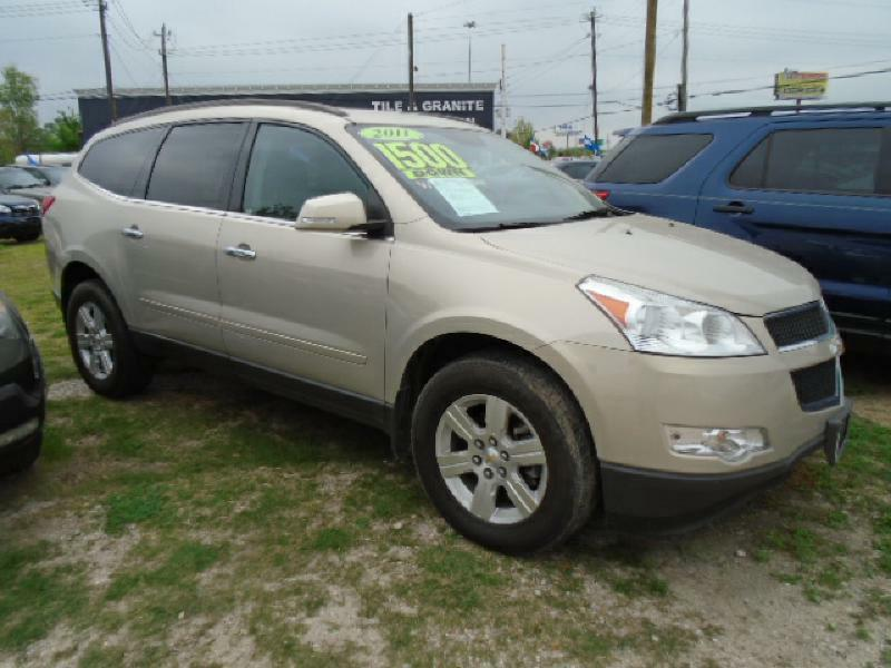 2011 CHEVROLET TRAVERSE LT 4DR SUV W1LT gray air conditioning power windows power locks power