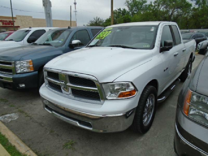 2010 DODGE RAM PICKUP 1500 white air conditioning power windows power locks power steering ti