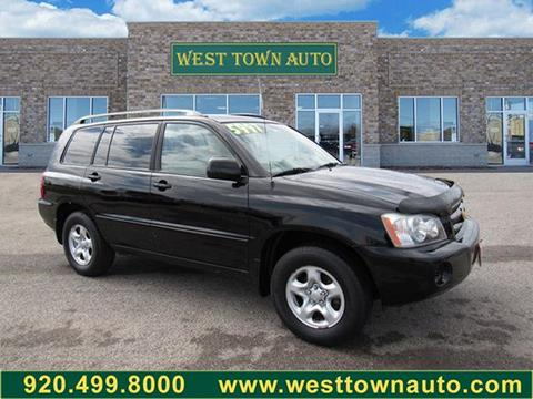 2003 Toyota Highlander for sale in Green Bay, WI