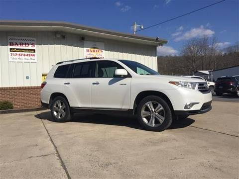 2013 Toyota Highlander for sale at BARD'S AUTO SALES in Needmore PA
