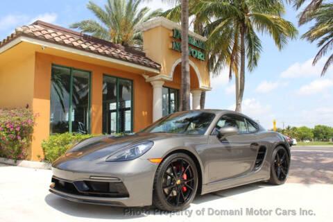 2018 Porsche 718 Cayman for sale at DOMANI MOTOR CARS INC in Deerfield Beach FL