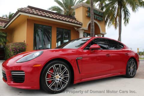 2015 Porsche Panamera GTS for sale at DOMANI MOTOR CARS INC in Deerfield Beach FL