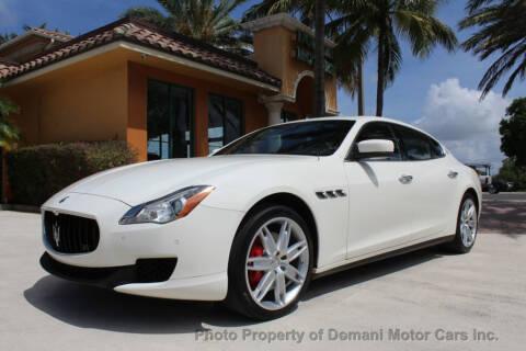 2016 Maserati Quattroporte S for sale at DOMANI MOTOR CARS INC in Deerfield Beach FL