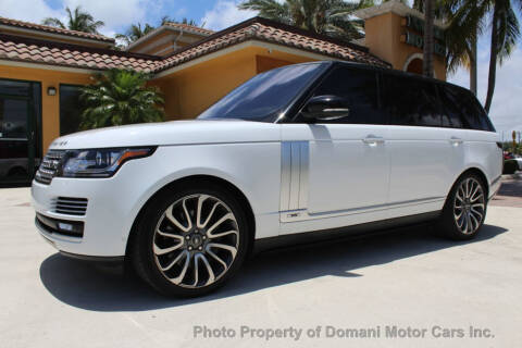 2016 Land Rover Range Rover Autobiography LWB for sale at DOMANI MOTOR CARS INC in Deerfield Beach FL