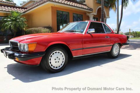 1987 Mercedes-Benz 560-Class 560 SL for sale at DOMANI MOTOR CARS INC in Deerfield Beach FL