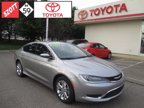 2016 Chrysler 200 for sale in Waterford, MI