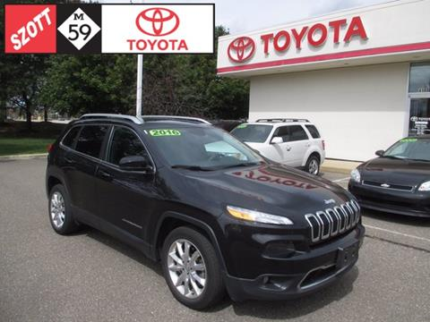2016 Jeep Cherokee for sale in Waterford MI