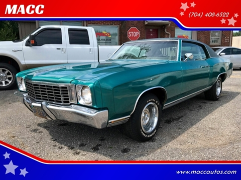 1972 Chevrolet Monte Carlo for sale in Statesville, NC