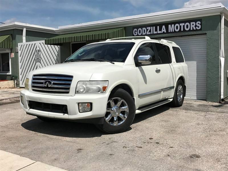 2006 INFINITI QX56 BASE 4DR SUV white grille color - chrome running boards air filtration armr