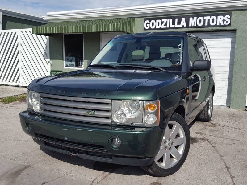 2004 LAND ROVER RANGE ROVER HSE green this rare combination of green exterior and white interior