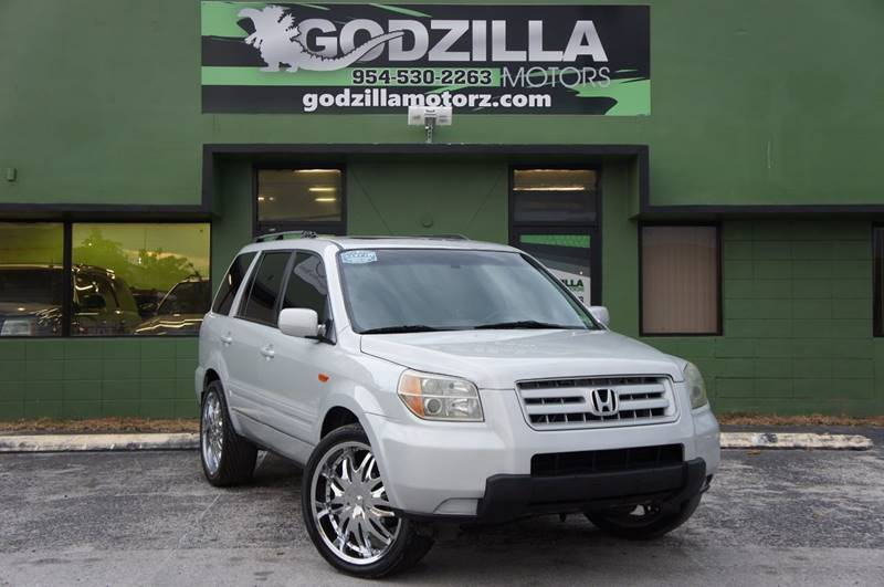 2006 HONDA PILOT EX-L silver this honda pilot  has it all  20 inch chrome rims leather and