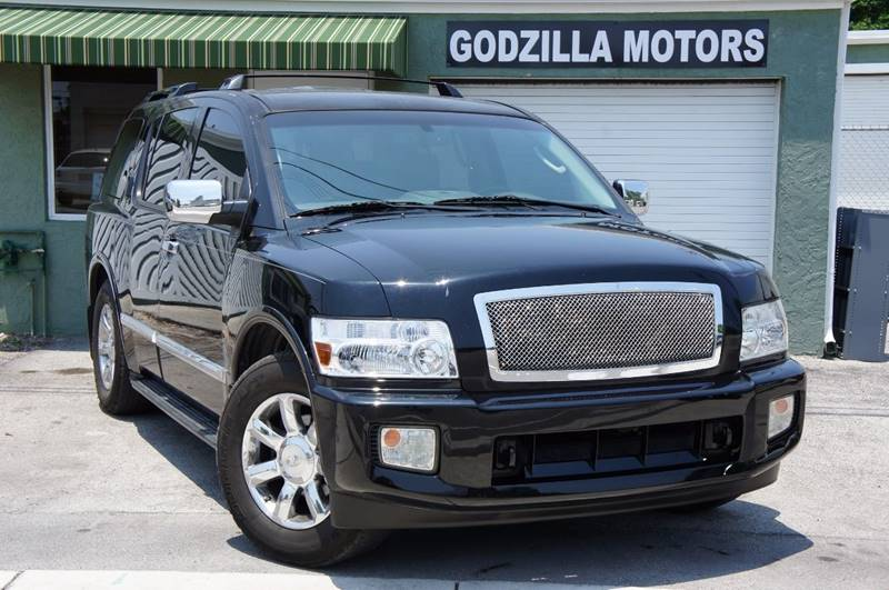 2006 INFINITI QX56 BASE 4DR SUV black fully loaded black beauty     grille color - chrome run