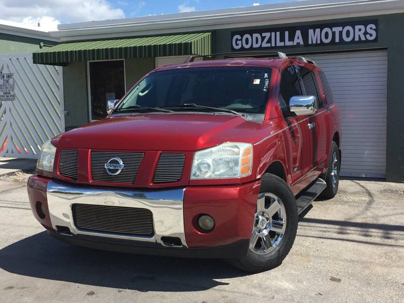 2005 NISSAN ARMADA LE 4DR SUV maroon trailer hitch running boards skid plates door trim - le