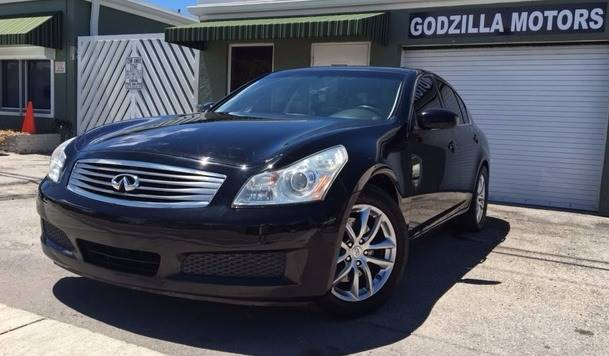 2008 INFINITI G35 JOURNEY 4DR SEDAN black cargo tie downs front bumper color - body-color grill
