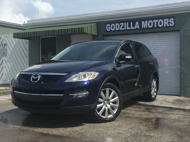 2008 MAZDA CX-9 GRAND TOURING 4DR SUV blue exhaust - dual tip rear spoiler - roofline door hand