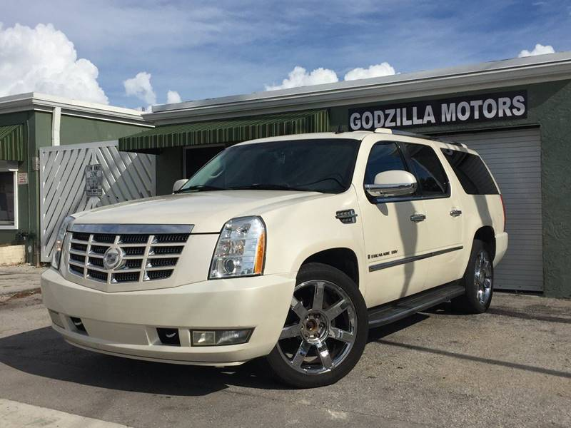 2007 CADILLAC ESCALADE ESV BASE AWD 4DR SUV white running boards - step tow hooks - front trail