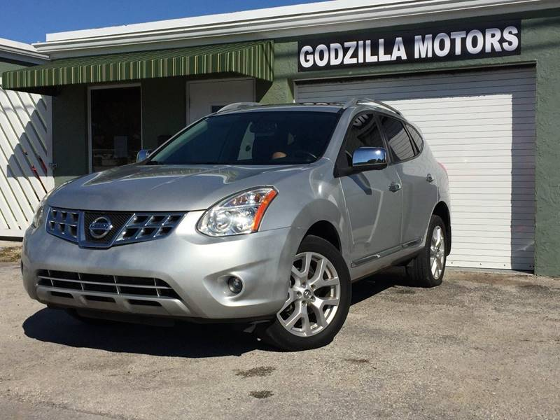 2012 NISSAN ROGUE SV WSL PACKAGE 4DR CROSSOVER silver rear spoiler - roofline tow hooks - front