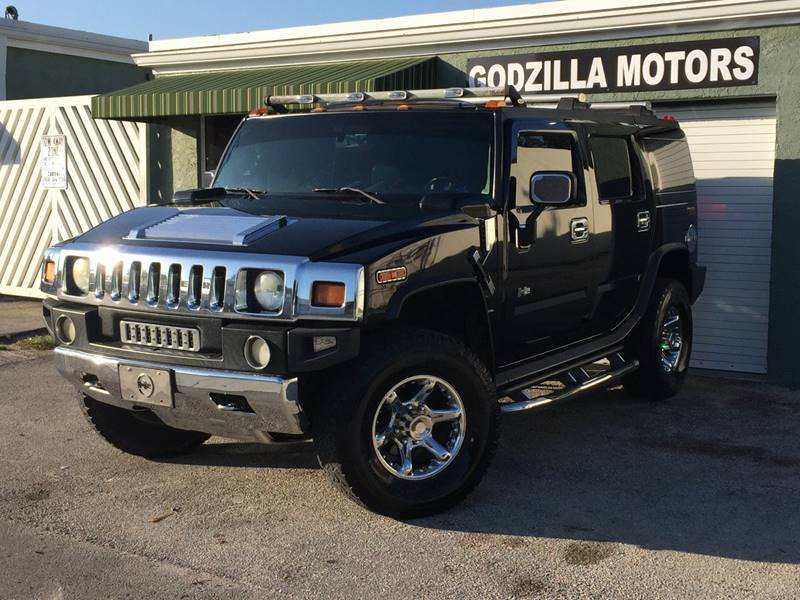 2003 HUMMER H2 LUX SERIES 4DR 4WD SUV black tv in head restback up camera loaded plenty of extr