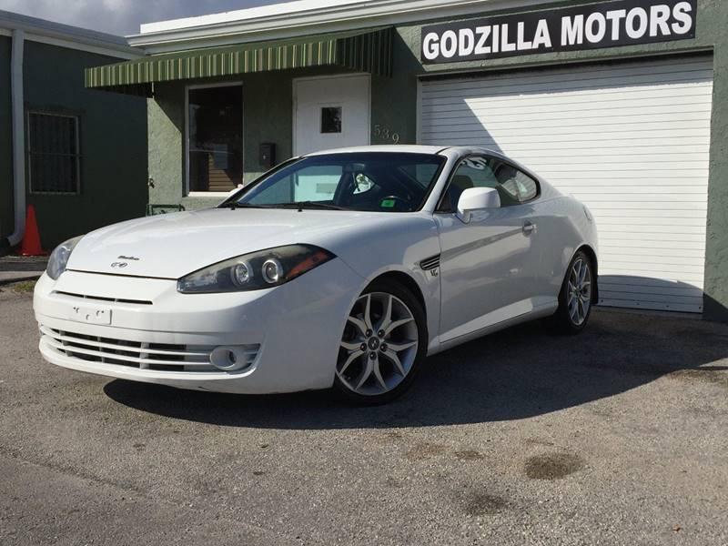 2007 HYUNDAI TIBURON GT LIMITED 2DR HATCHBACK white rare find gt v6  rear spoiler air filtrati
