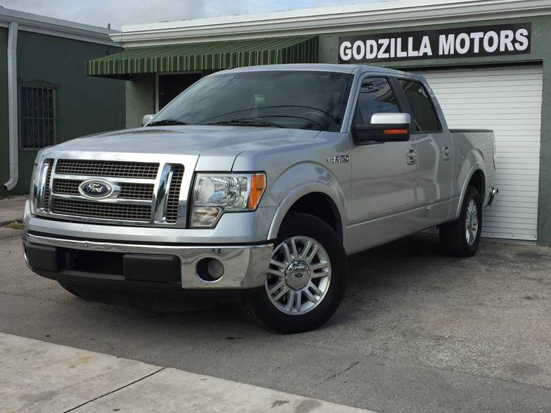 2011 FORD F-150 PLATINUM 4X2 4DR SUPERCREW STYLE silver sunroof leather navigation pickup bed li