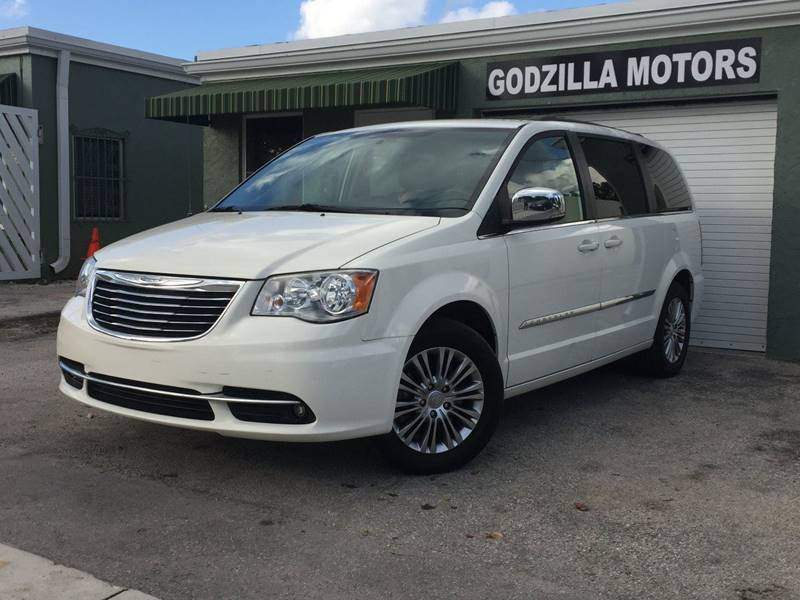 2013 CHRYSLER TOWN AND COUNTRY TOURING-L 4DR MINI VAN white dvd captains chairs leather extra cl