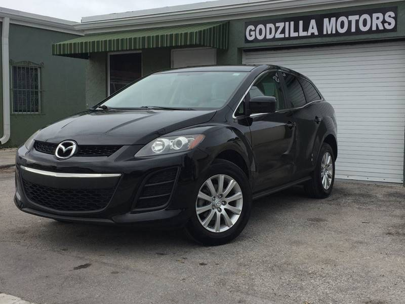 2010 MAZDA CX-7 I SPORT 4DR SUV black rear spoiler - roofline door handle color - body-color fr