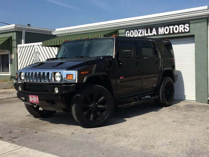 2004 HUMMER H2 LUX SERIES 4WD 4DR SUV black this one is ready to drive home and show off   d