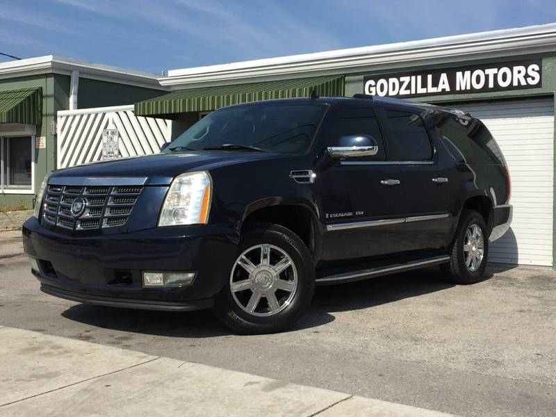 2007 CADILLAC ESCALADE ESV BASE AWD 4DR SUV blue running boards - step tow hooks - front traile