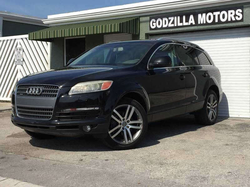 2007 AUDI Q7 36 PREMIUM QUATTRO AWD 4DR SUV black cargo tie downs rear spoiler armrests - rear