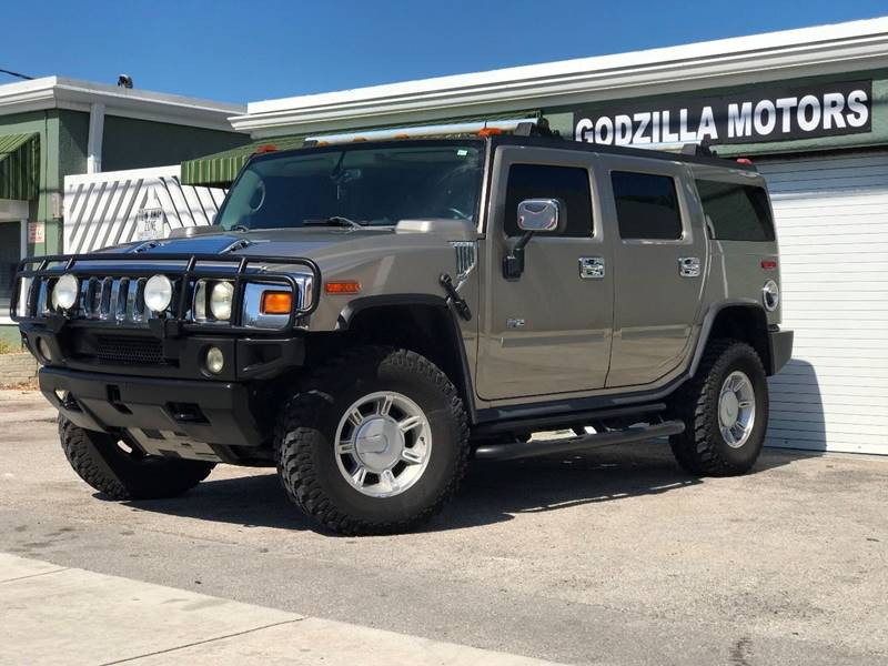 2003 HUMMER H2 LUX SERIES 4DR 4WD SUV tan trailer hitch running boards skid plates front air