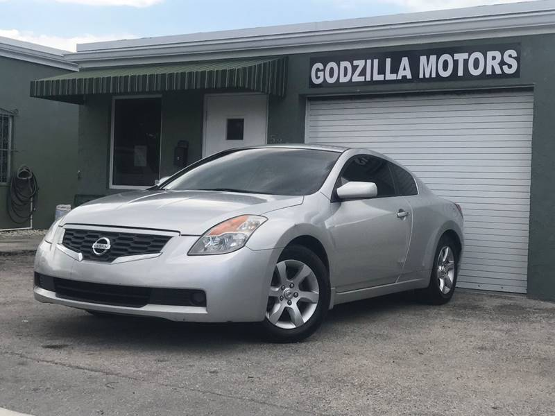 2008 NISSAN ALTIMA 25 S SULEV 2DR COUPE CVT gray exhaust - dual tip mudguards - front body sid