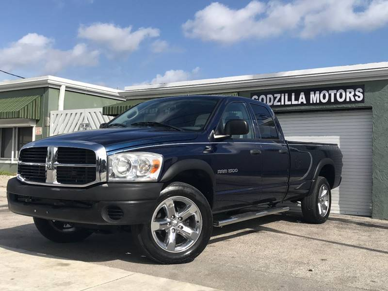 2007 DODGE RAM PICKUP 1500 SLT 4DR QUAD CAB 4WD SB blue this one is ready to drive home and show