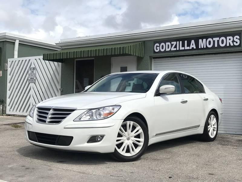 2011 HYUNDAI GENESIS 46L V8 4DR SEDAN white this one is ready to drive home and show off  d
