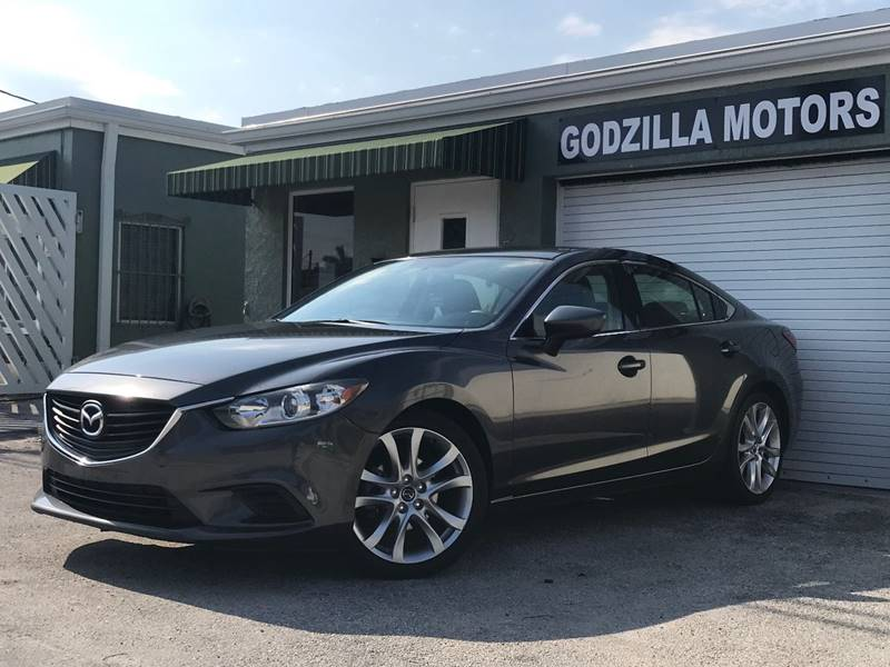 2015 MAZDA MAZDA6 I TOURING 4DR SEDAN 6A gray this one is ready to drive home and show off