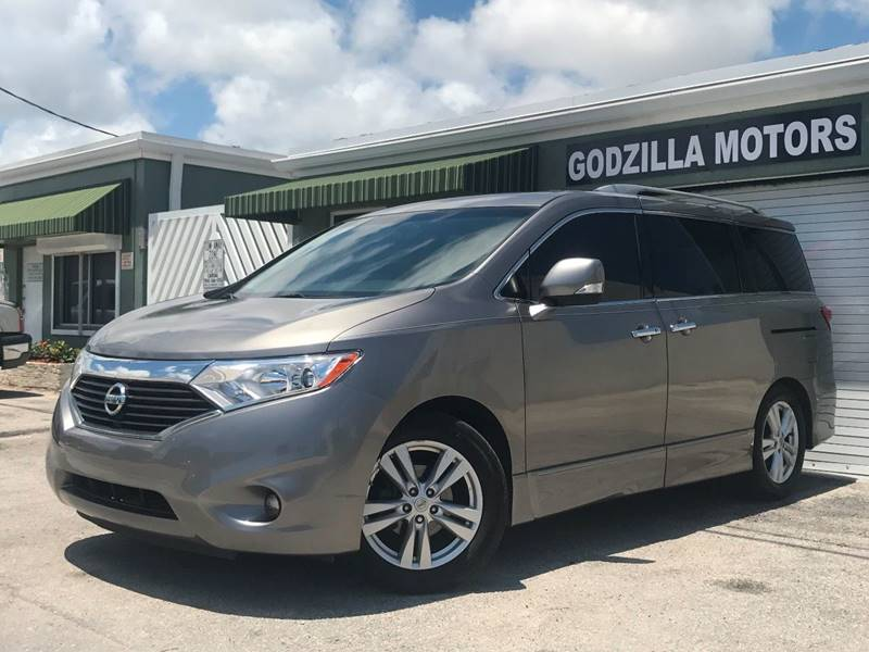 2011 NISSAN QUEST 35 SV 4DR MINI VAN gray this one is ready to drive home and show off  don