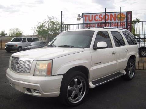 2002 Cadillac Escalade for sale at Tucson Used Auto Sales in Tucson AZ