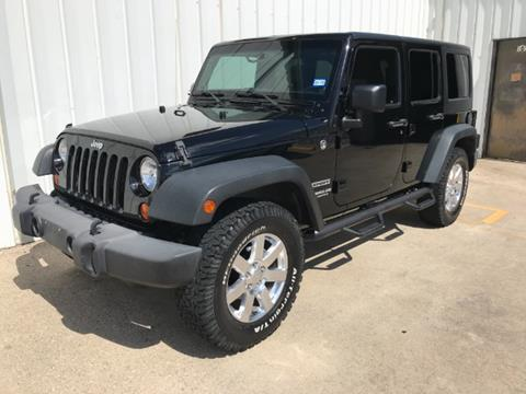 2013 Jeep Wrangler Unlimited for sale at North Texas Motorsports in Denton TX