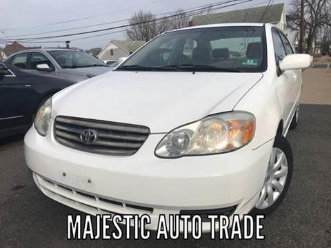 2003 Toyota Corolla for sale at Majestic Auto Trade in Easton PA