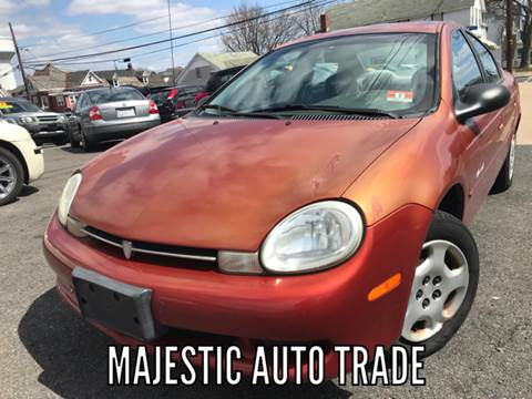 2000 Plymouth Neon for sale at Majestic Auto Trade in Easton PA