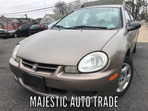 2002 Dodge Neon for sale at Majestic Auto Trade in Easton PA