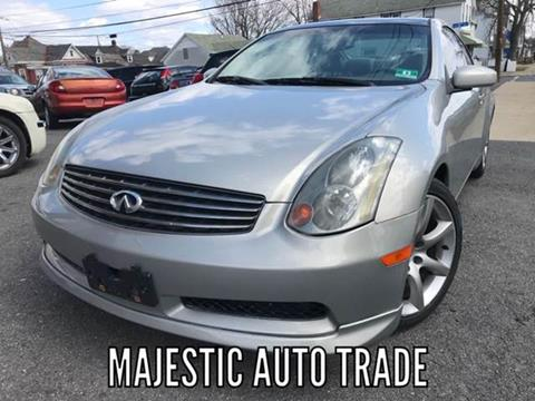 2003 Infiniti G35 for sale at Majestic Auto Trade in Easton PA