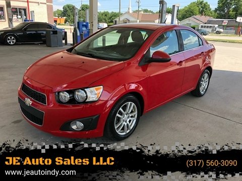 2012 Chevrolet Sonic for sale at JE Auto Sales LLC in Indianapolis IN