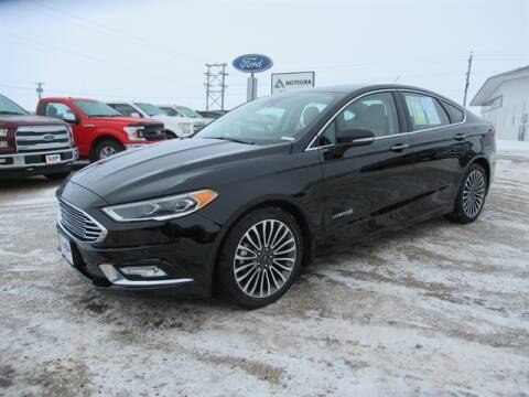 2018 Ford Fusion Hybrid Titanium for sale at Jan Busse Ford in Highmore SD