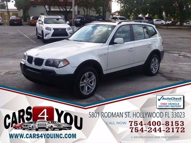 2005 BMW X3 for sale at Cars 4 You in Hollywood FL